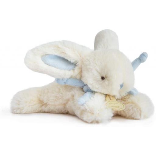 Doudou et Compagnie Lapin Bonbon Soft Toy Plush Bleu 16cm.