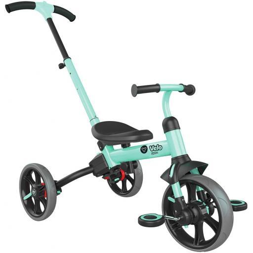 Yvolution Y Velo Flippa 4-in-1 Balance Bike To Trike - Teal