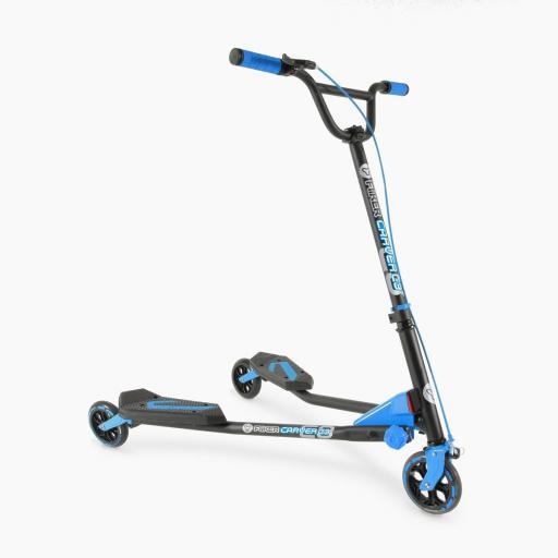 Yvolution Y Fliker Carver C3 Kids Scooter - Blue