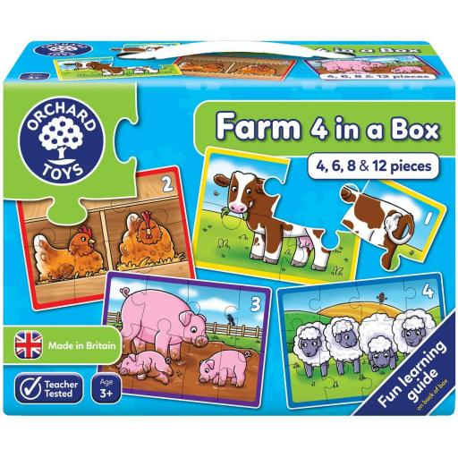 Orchard Toys Farm Four In A Box First Puzzles