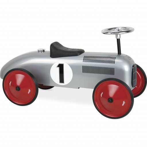 Vilac Classic Ride On Kids Car - Grey