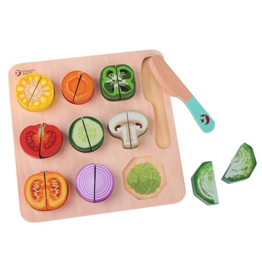 Classic World Wooden Cutting Vegetable Puzzle Toy