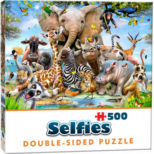 Cheatwell Games Wild Selfie Double-Sided Jigsaw Puzzle 500 Pieces