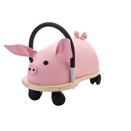 Wheelybug Kids Wooden Ride On Toy – Pig (Small)