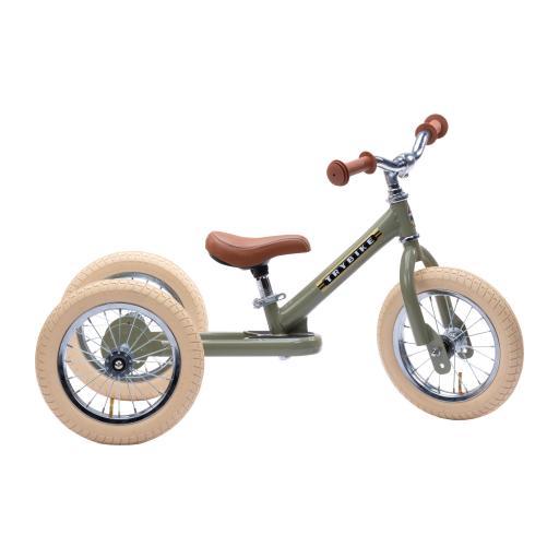 Trybike - Steel 2 in 1 Balance Trike/Bike - Vintage Green