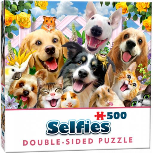 Cheatwell Games Buddies Selfie Double-Sided Jigsaw Puzzle 500 Pieces