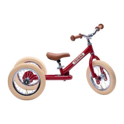 Trybike - Steel 2 in 1 Balance Trike/Bike - Vintage Red