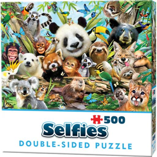 Cheatwell Games Jungle Selfie Double-Sided Jigsaw Puzzle 500 Pieces