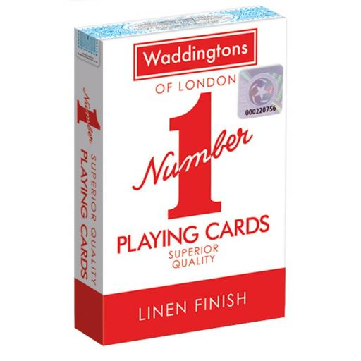 Waddingtons Classic No.1 Playing Cards Red / Blue