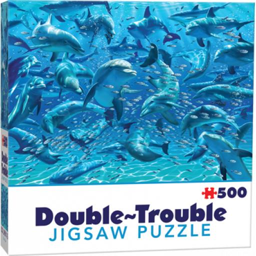 Cheatwell Games Dolphins Double Trouble Jigsaw Puzzle 500 Pieces