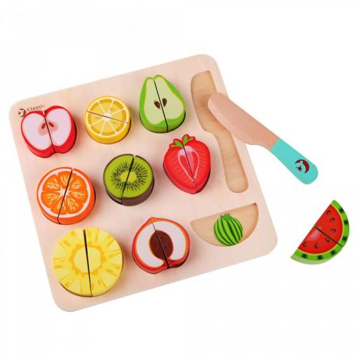 Classic World Wooden Cutting Fruit Puzzle Toy