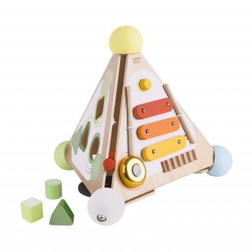 Classic World Wooden Pyramid Activity Box
