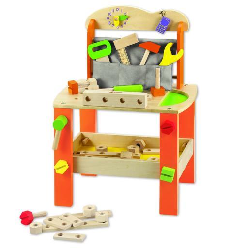 Classic World Kids Wooden Pretend Tool Bench